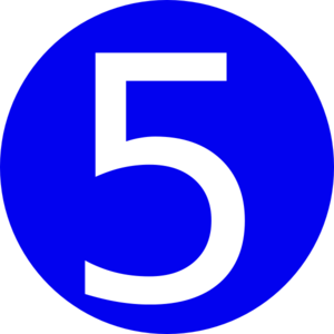 5 clipart. Number