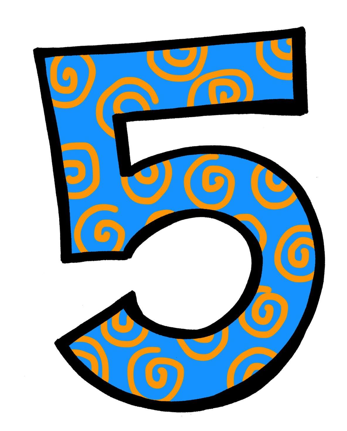 6 clipart animal number