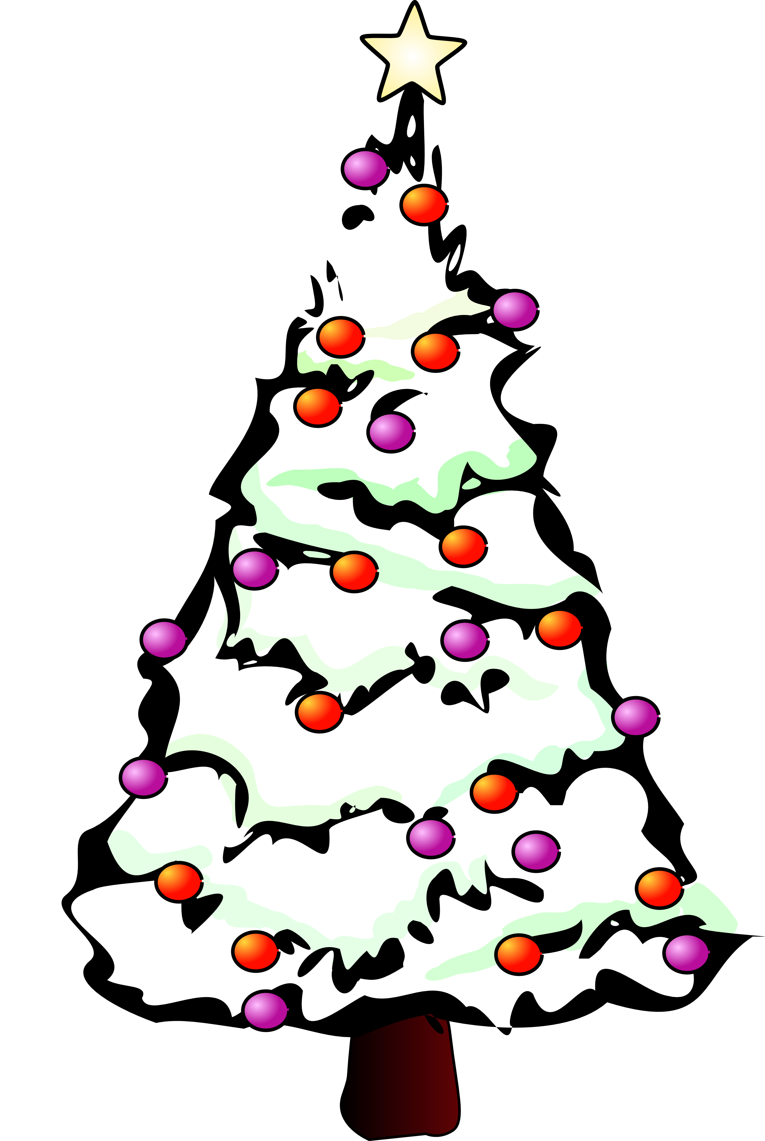 Free art download clip. Christmas tree vector png clip stock