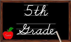 5 clipart grade. Welcome th