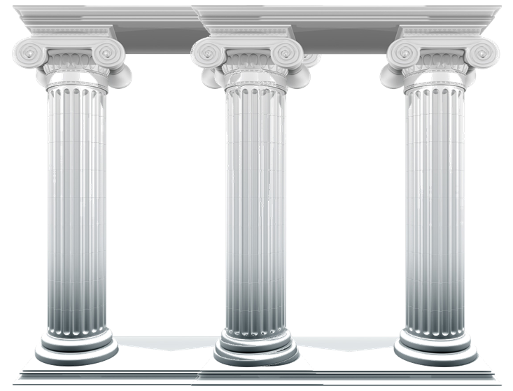 5 clipart pillar. Pillars to social