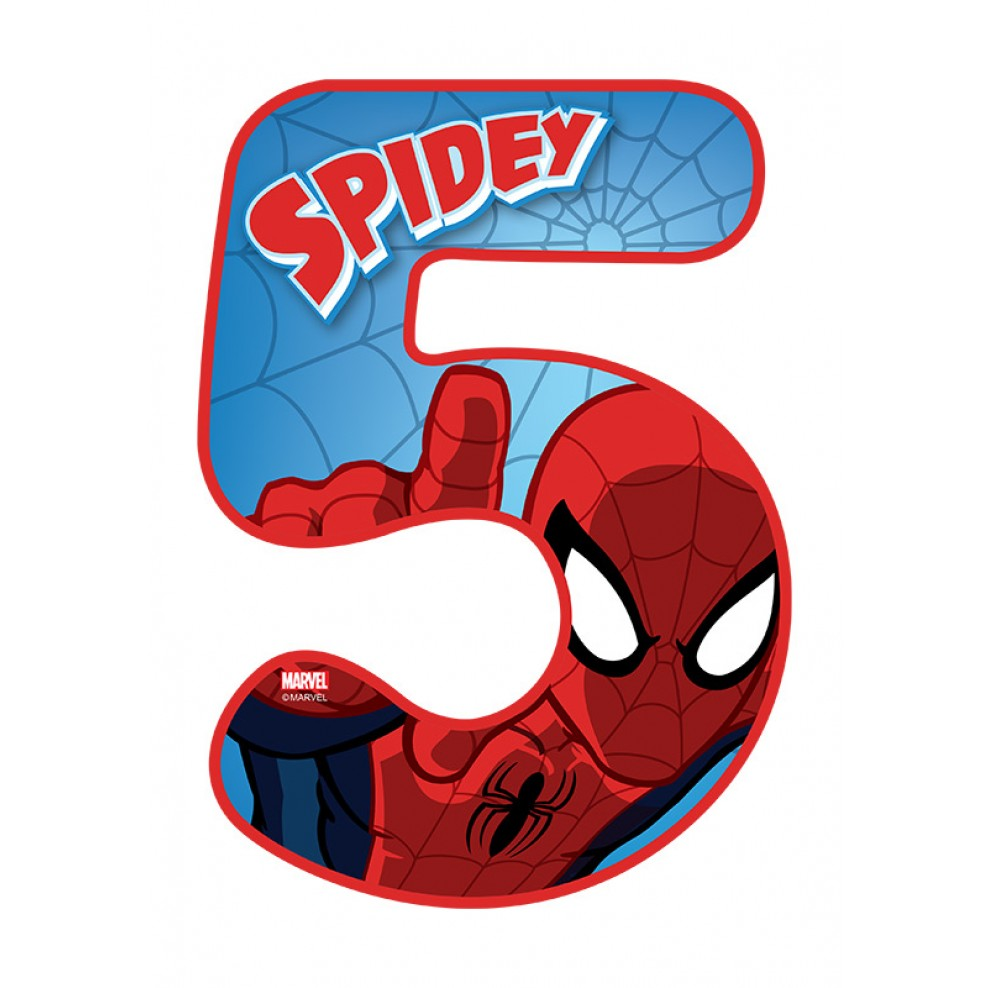 5 clipart spiderman. Number