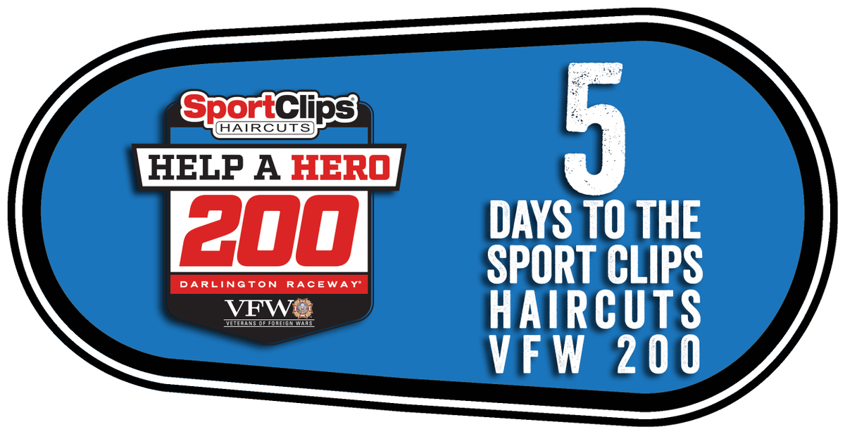 5 days only png. Darlington raceway on twitter