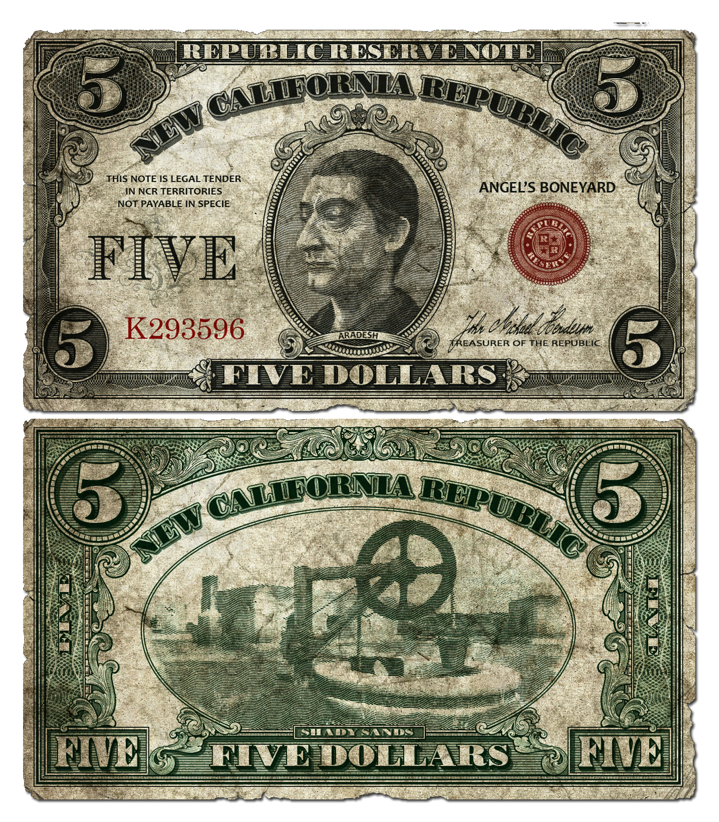 5 dollar bill png. Ncr fallout wiki