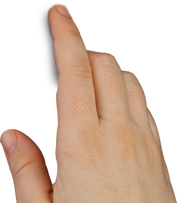 5 finger png. Touch free icons and