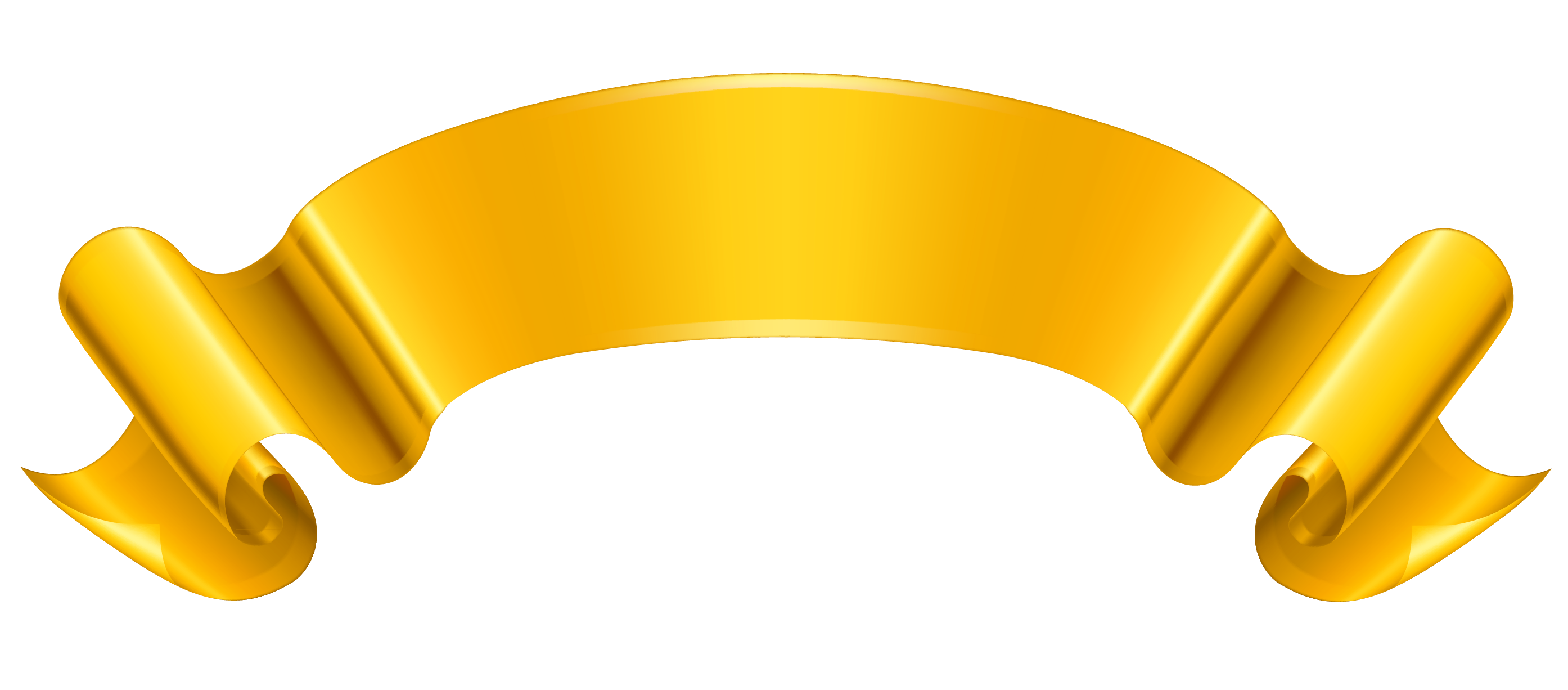 gold banner ribbon png