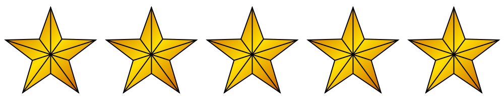 5 gold stars png. File svg wikimedia commons