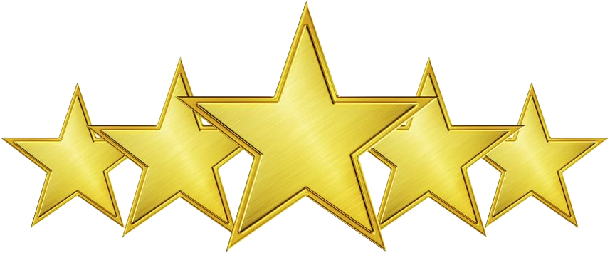 Download star accredited school. 5 gold stars png image freeuse download