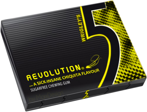 5 gum png. Wrigley s revolution by