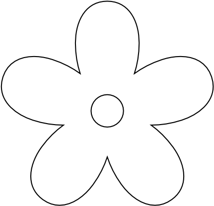 5 petal flower png. Download clipart collection white