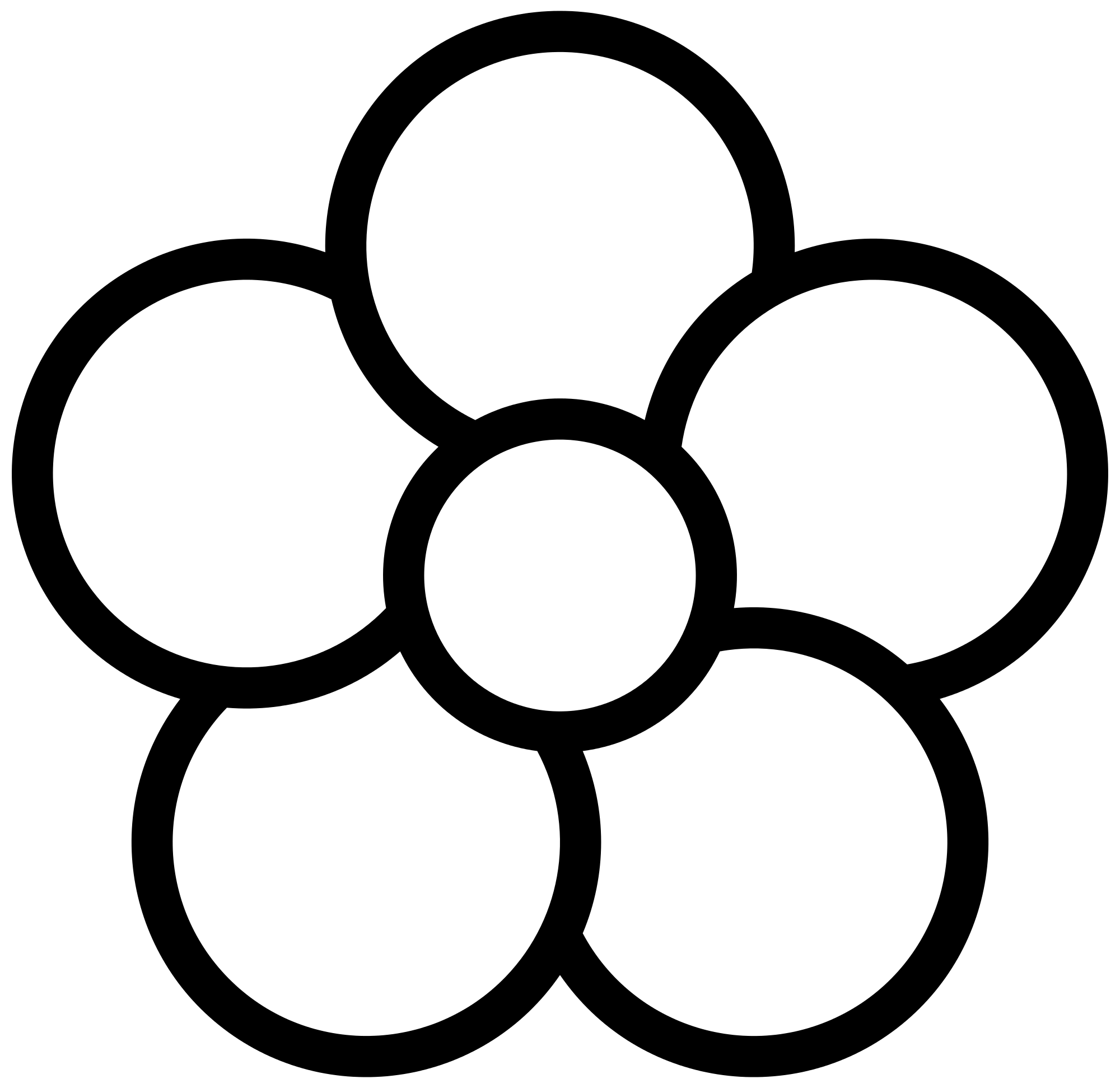 5 petal flower png. File five icon white