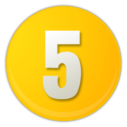 5 png. Yellow number image royalty