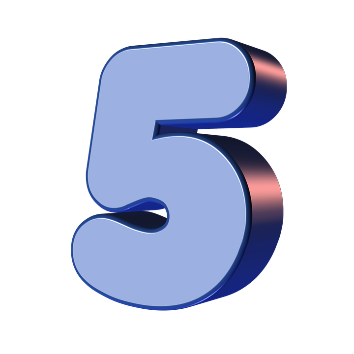 5 number png. High quality image