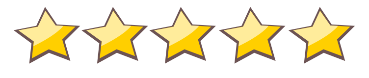 5 stars icon png. Free download five star