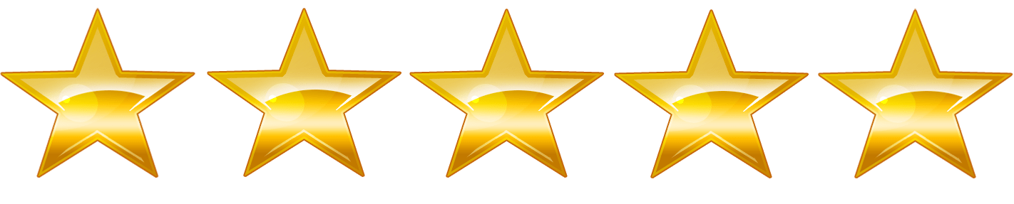 5 stars transparent png. Sparkling gold rating