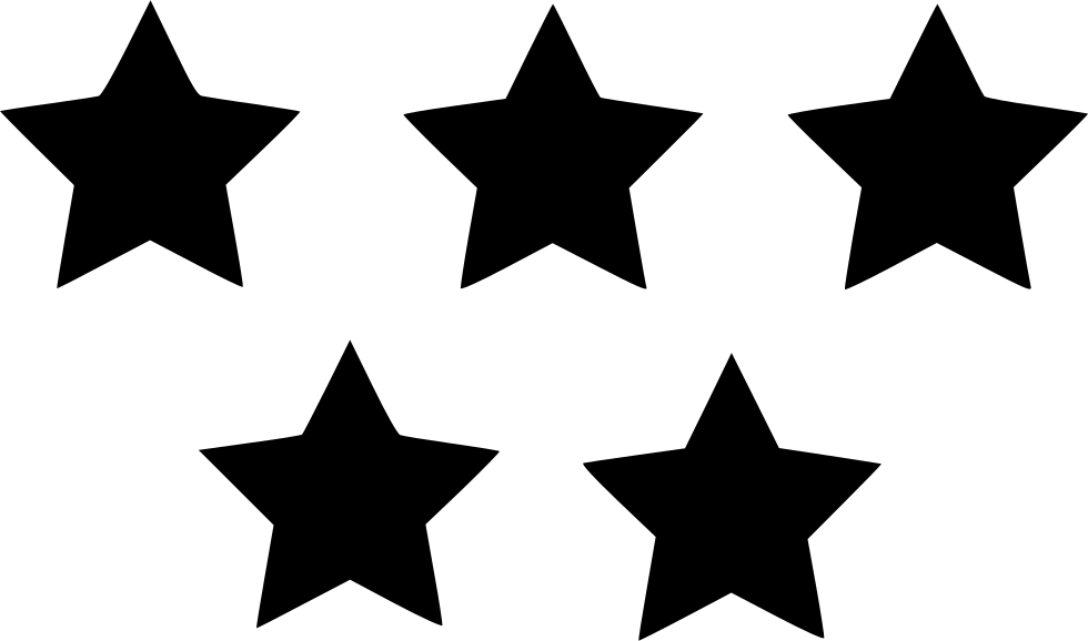 Five star png. Rating svg icon free