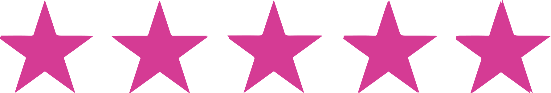5 star rating pink png. Full colour quality business