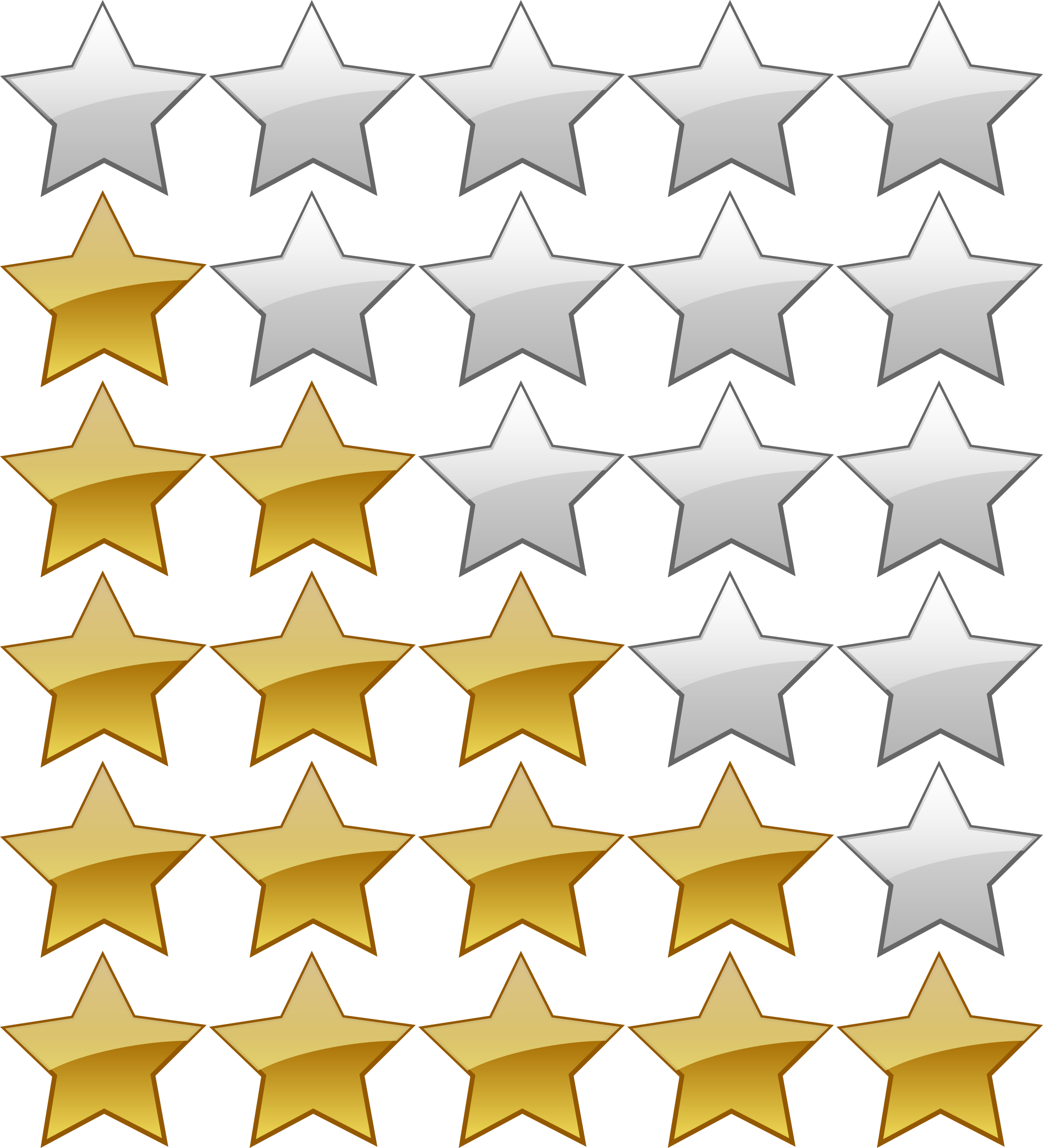5 stars png. Star rating icon