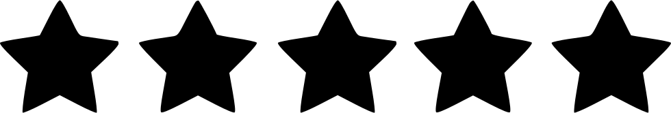 5 star rating png. Five svg icon free