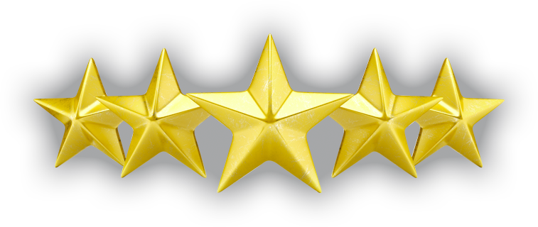 5 stars transparent png.