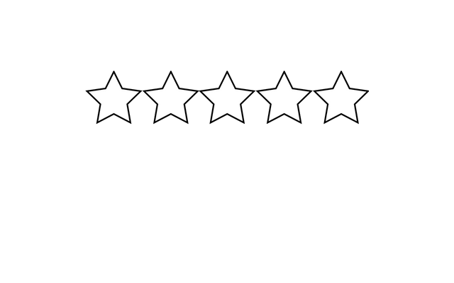 5 white stars png. Star clear background