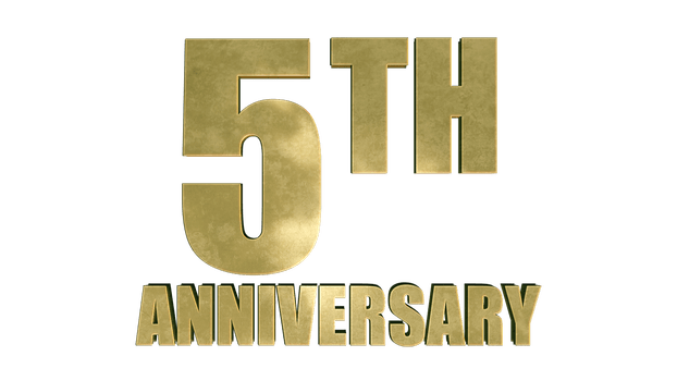 5 year anniversary png