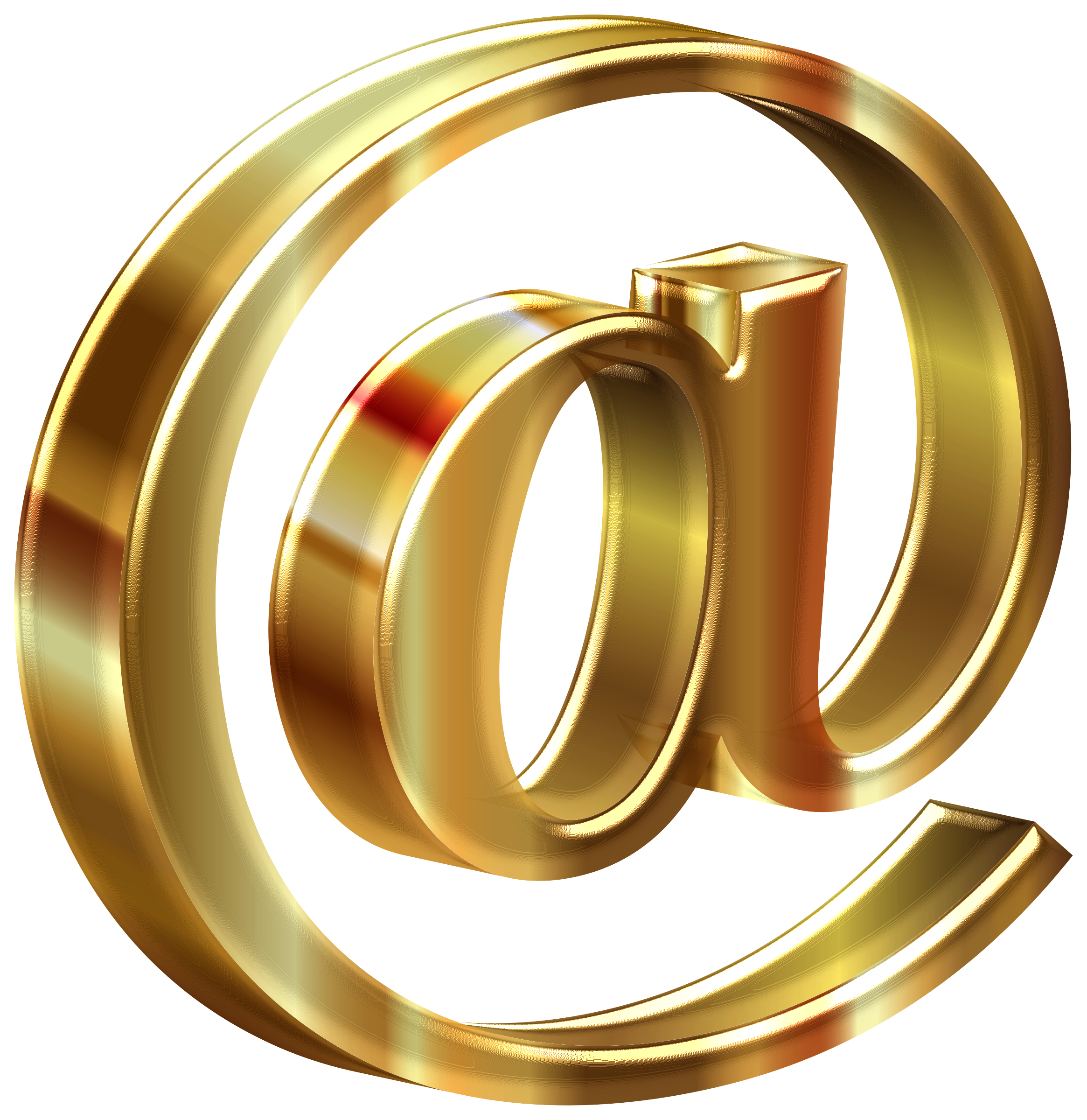 6 clipart gold number. D shiny at sign
