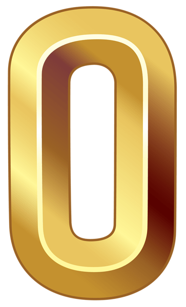 6 clipart gold number. Png sticker share