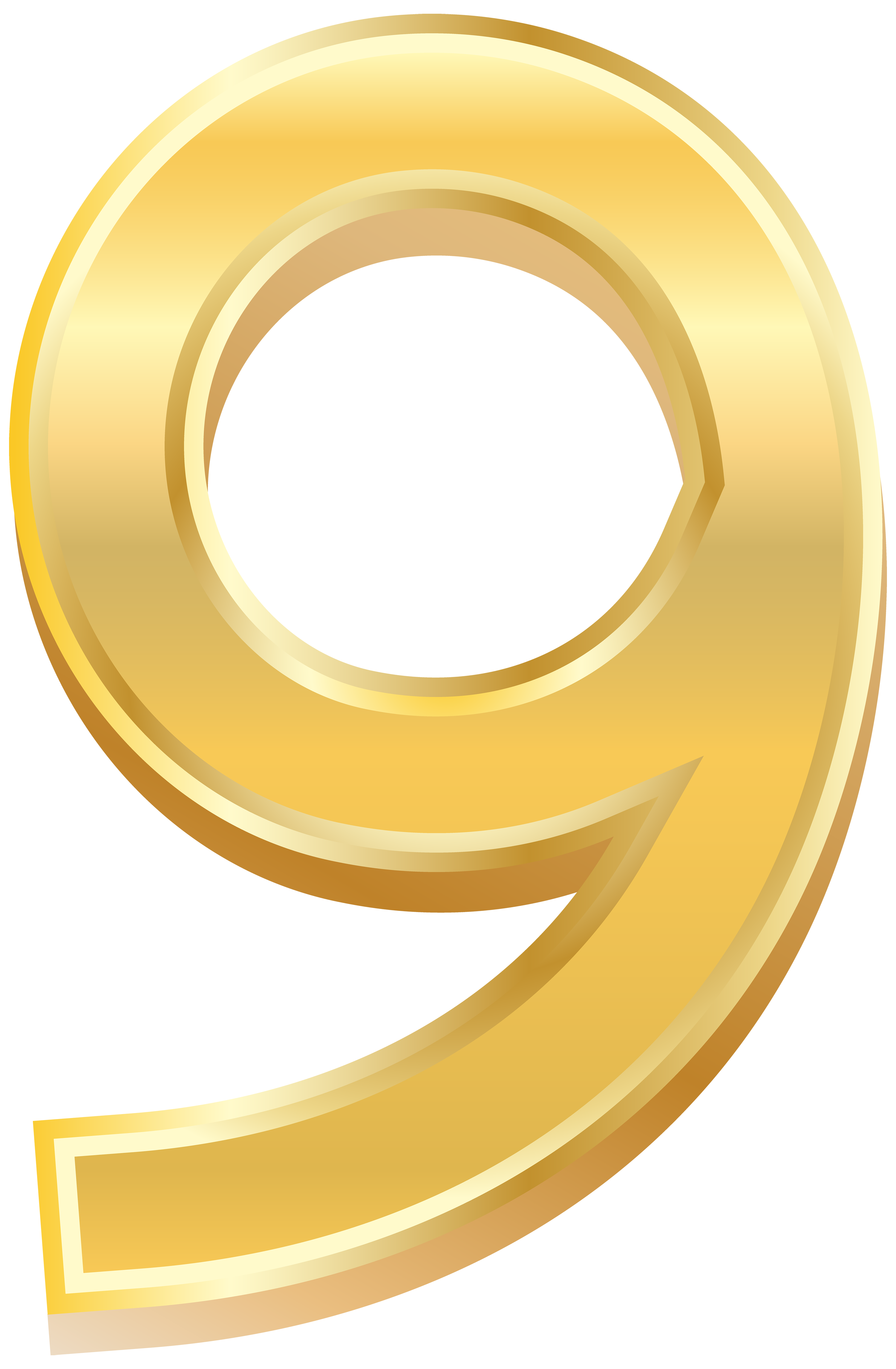 6 clipart gold number. Style images gallery for