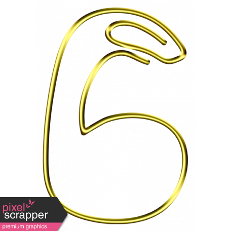 6 clipart gold number. Clip graphic by marisa