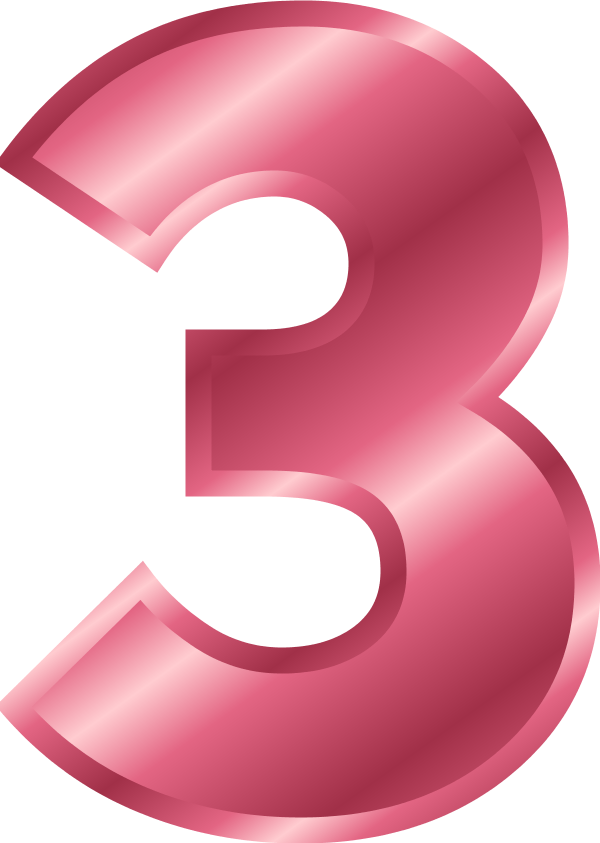 Pink number 2 png. Free pictures of download