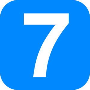 7 clipart 7th. The number seven shalom