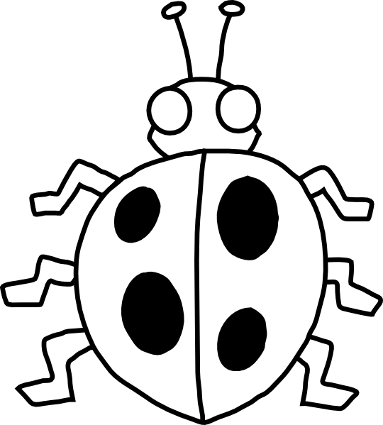 7 clipart bug. Black and white