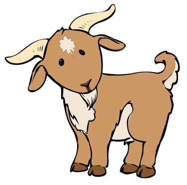 Baby goat description svg. Drawing goats cartoon banner freeuse stock