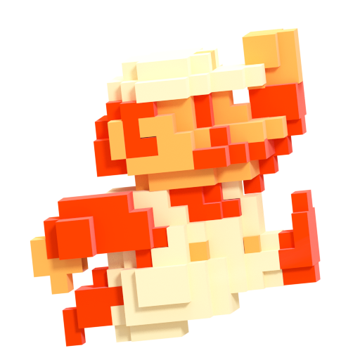 8 bit mario png. Image smash style by