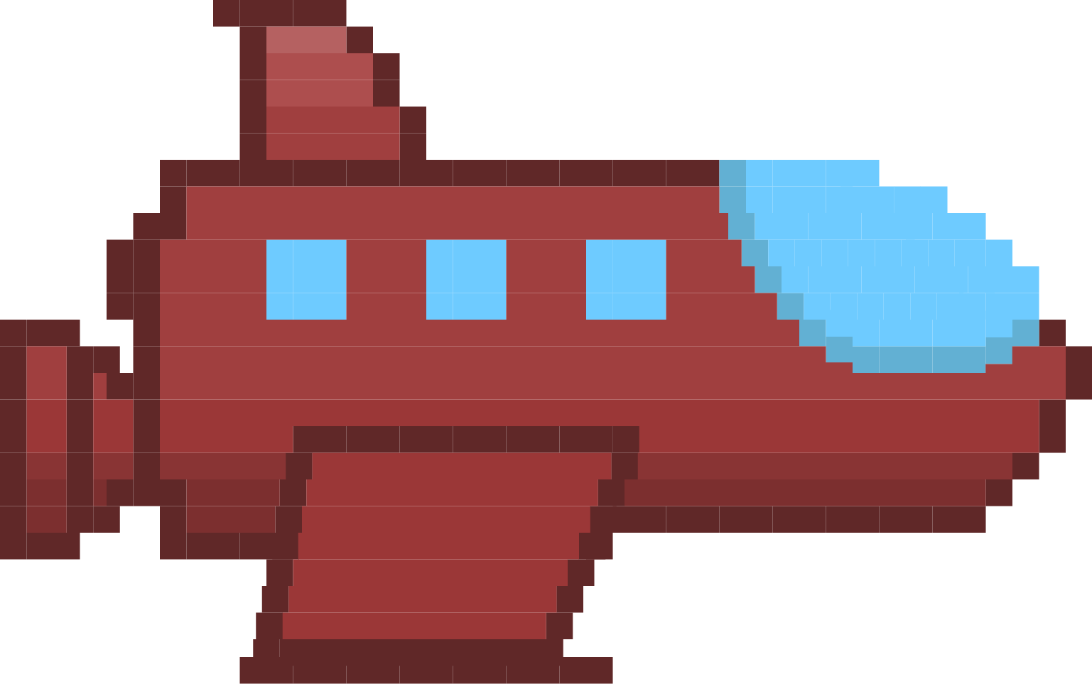 8 bit spaceship png. Illustration updates experimental design