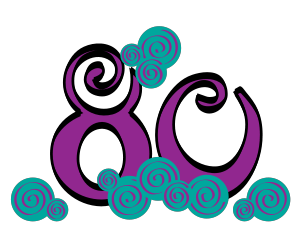 80 clipart. Th in purple