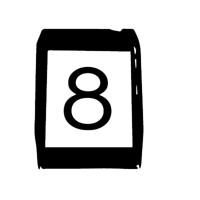 80 clipart 8 track. Music formats then and