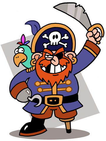 80 clipart happy. Free pirate image group