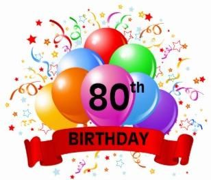 80 clipart happy. Best th birthday