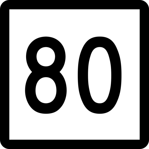 80 clipart number 80. Free picture of the