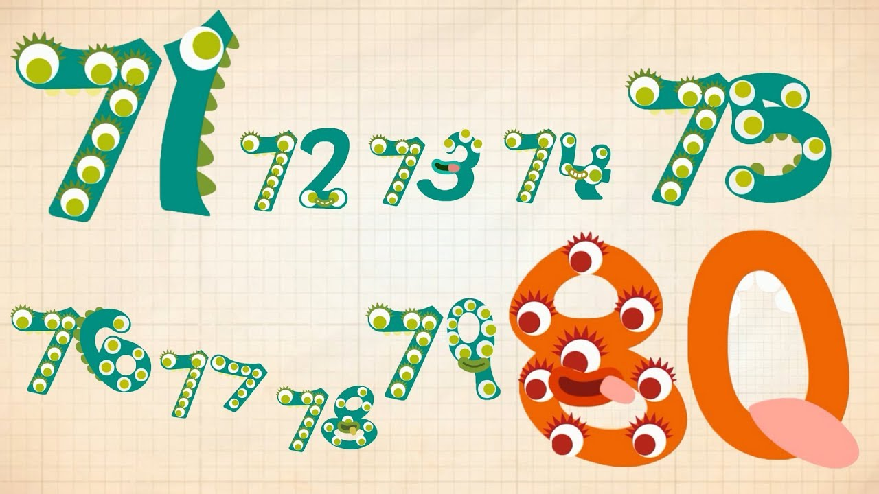80 clipart number 80. Endless numbers learn to