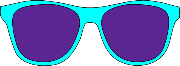 Striped vector sunglasses. Free printable clipart les