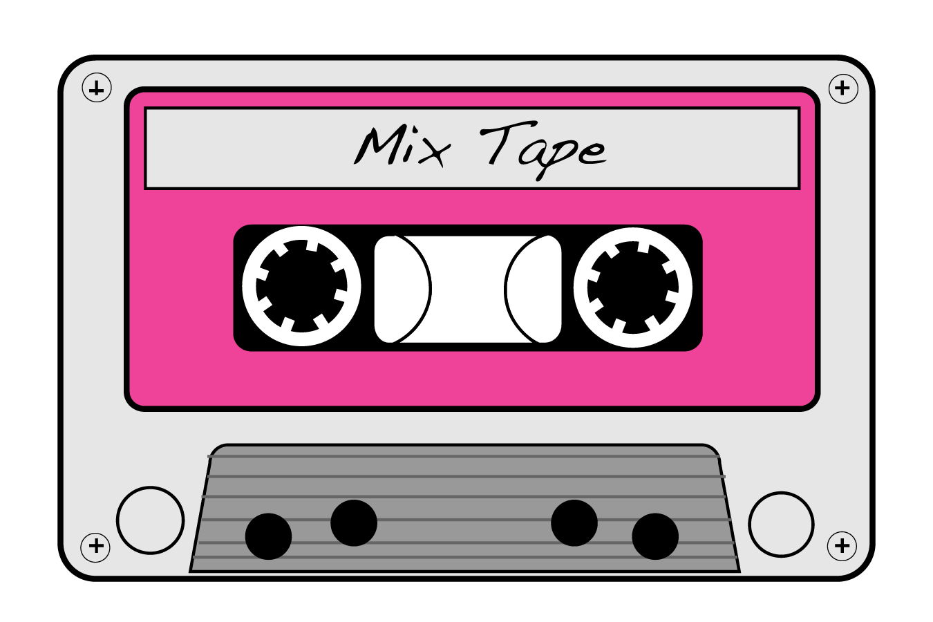 Mixtape drawing cute