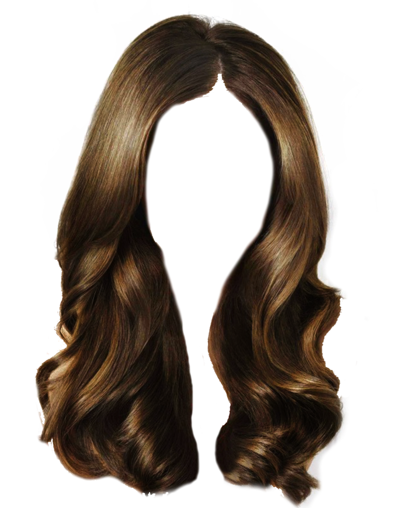 Long hair wig png. Clipart transparent background