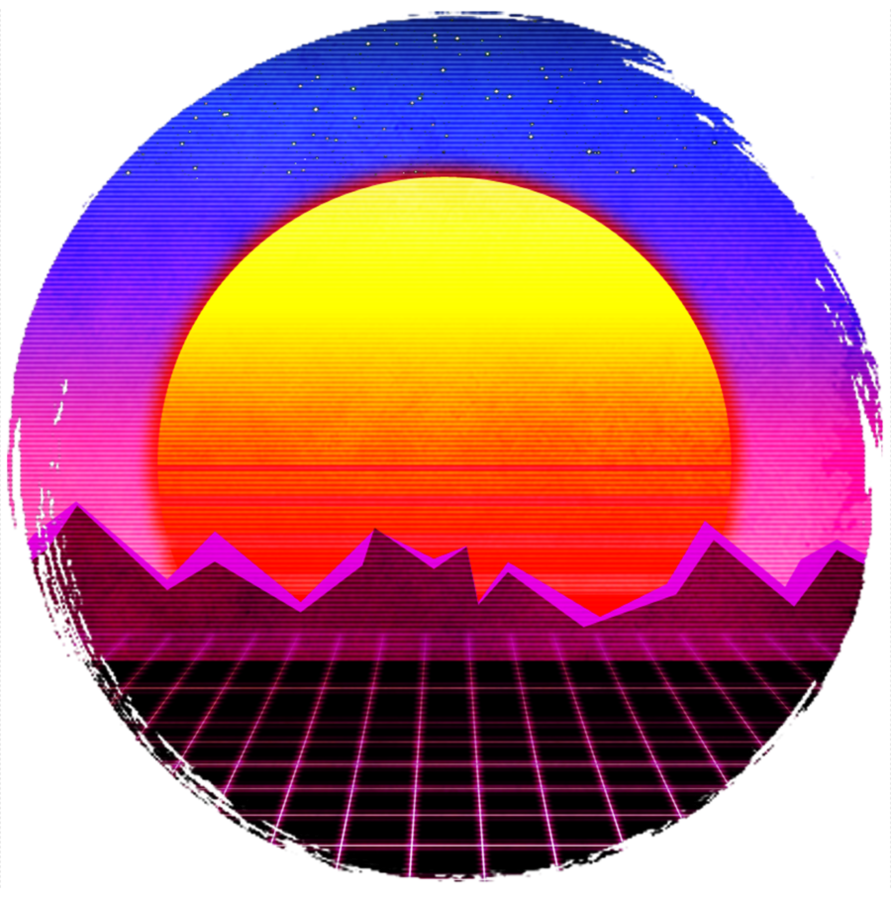 retro sunset png