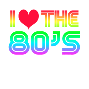 80s transparent i love the 80. S gaming by coolcustomtshirts
