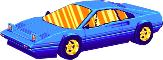 80s transparent low poly. Drift stage pixelated d