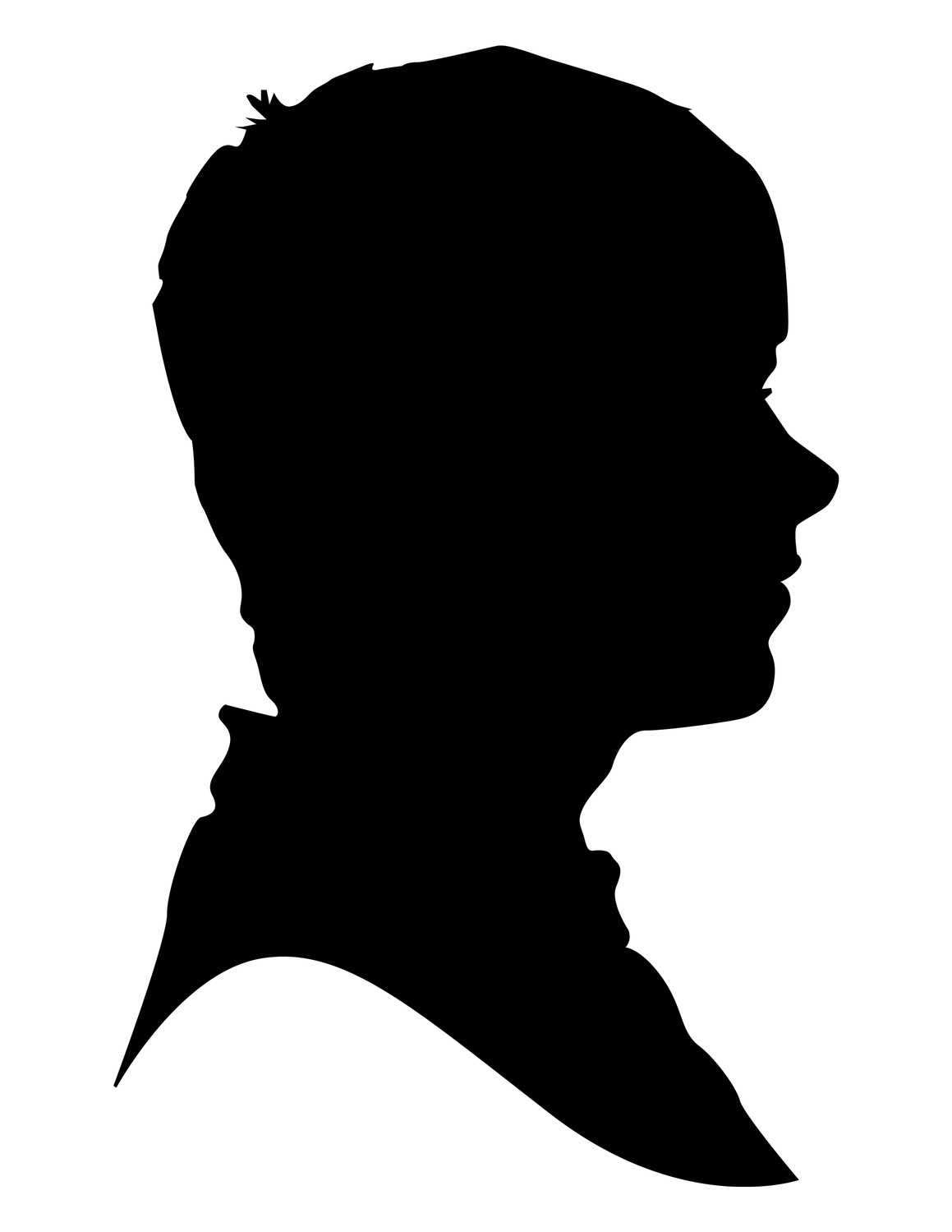9 11 clipart profile facebook. Silhouette female at getdrawings