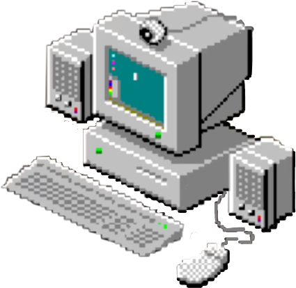 90s transparent computer. S pc freetoedit